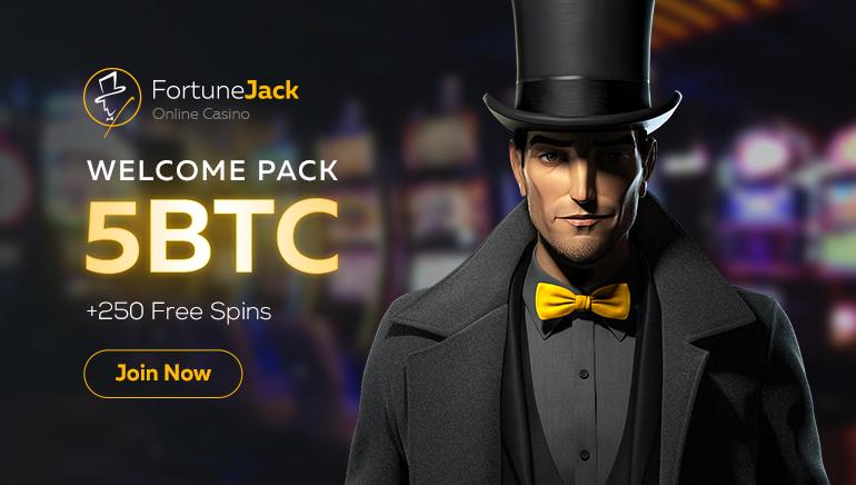 FortuneJack加密貨幣福利雨:高達5比特幣和250次免費旋轉