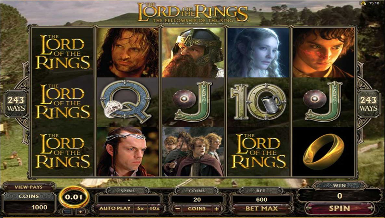 Lord of the Rings,Jackpot City 的生活